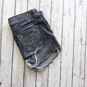 GUESS Distressed Denim Cutoffs Jean Shorts Size 29